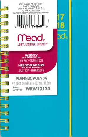 Colour Pop Pocket Weekly/Monthly Poly Planner