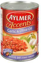 Aylmer® Accents Garlic & Olive Oil Petite Cut Stewed Tomatoes