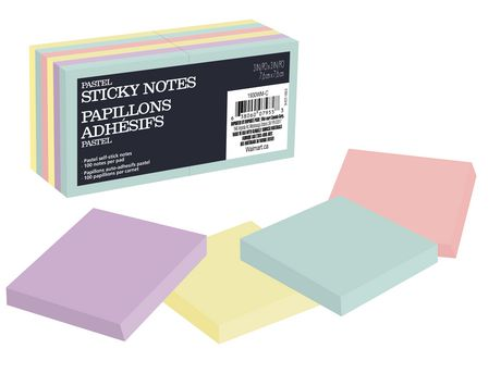 Assorted pastel 3x3 size sticky notes