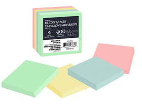 Self Stick notes in assorted pastel