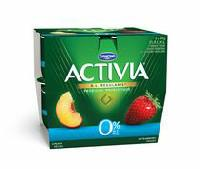 Activia Fat Free Peach/Strawberry 0% M.F. Probiotic Yogurt