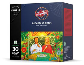 Keurig® Timothy's® Breakfast Blend Coffee Light Roast Recyclable K-Cup