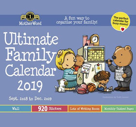 2019 MotherWord® Ultimate Family Calendar – Small (wall Tabbed Version)
