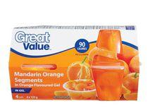 Great Value Mandarin Oranges in Orange Flavoured Gel Cups