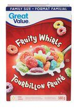Great Value Family Size Fruity Whirls