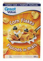 Great Value Family Size Corn Flakes