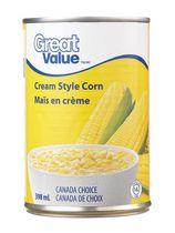 Great Value Cream Style Corn