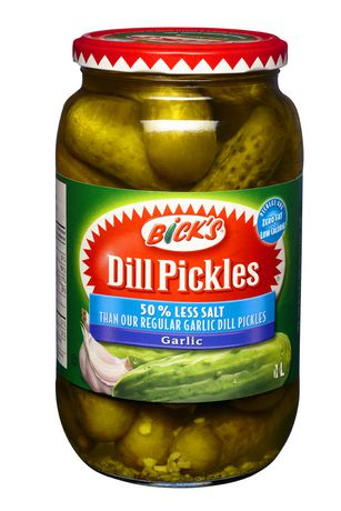 Bick's® 50% Less Salt Garlic Whole Dill Pickles