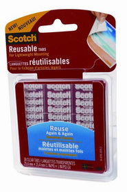 "Scotch Reuseable Tab - 1"" x 1"""
