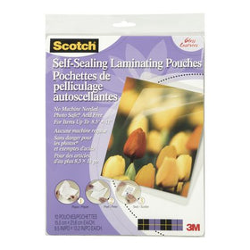Scotch Self Sealing Laminating Pouches