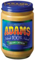 Adams 100% Natural Creamy Peanut Butter