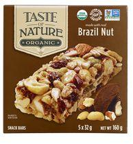 Taste of Nature Gluten Free Brazilian Nut Fiesta Organic Granola Bar Family Pack