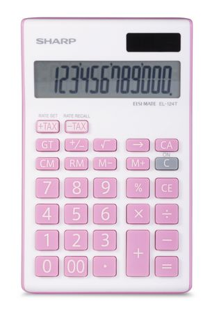 12 Digit Pink Calculator