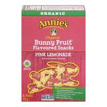 Annie's Homegrown Organic Pink Lemonade Bunny Fruit Flavoured Snacks