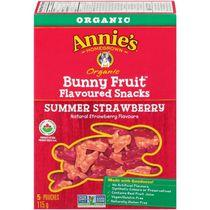 Annie's Homegrown Organic Summer Strawberry Bunny Fruit Flavoured Snacks