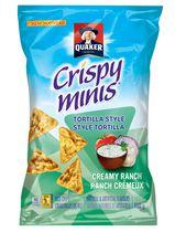 Quaker Crispy Minis Creamy Ranch Tortilla Style Rice Chips
