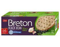 Breton Dare Gluten Free Black Bean with White Garlic Crackers