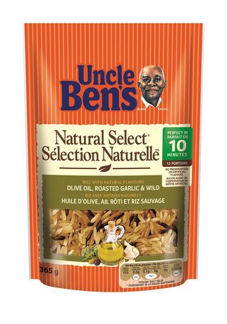 Uncle Ben's Natural Select Roasted Garlic and Olive Oil with Rice