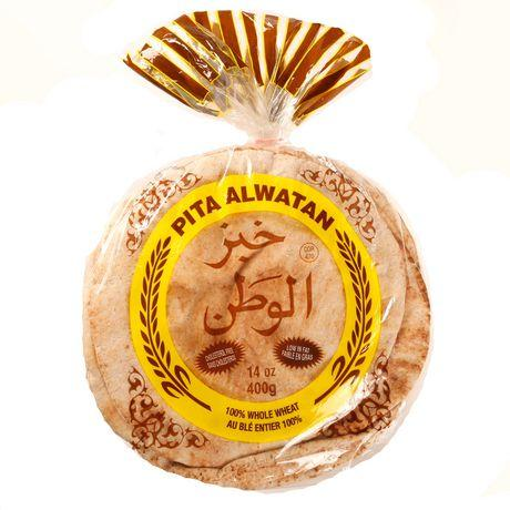 Alwatan Pita, 100% Whole Wheat