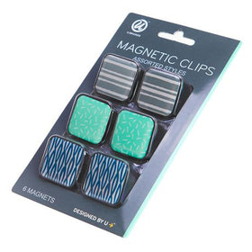 Assorted Patterns Magnetic Clips