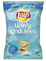 Wavy Lay's Lightly Salted Potato Chips