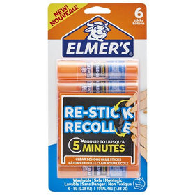 Elmer's Re-Stick Clear School Glue Sticks