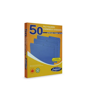 Letter Size File Folders Box - Blue