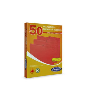 Letter Size File Folders Box - Red