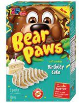 Bear Paws Dare Birthday Cake Soft Cookies