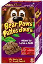 Bear Paws Chocolate Chip Cookies