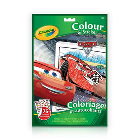 Cars 3 Colour & Sticker Book