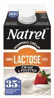 Natrel Lactose Free 35% M.F. Whipping Cream