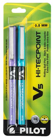 Hi-Tecpoint V5 Needle Tip Rolling Assorted Ball Pens