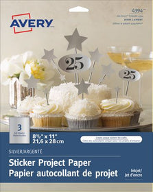 Silver Sticker Project Paper for Inkjet Printers
