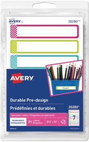 Permanent Durable Pre-Design Labels