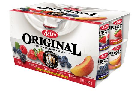Astro Original Balkan Style All-Natural Peach/Strawberry/Blueberry/Fieldberry Yogourt