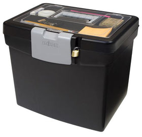 File Storage Box+ XL Storage inside Lid/ Noir