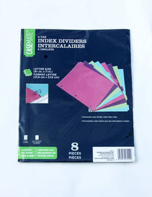 8 Tab Index Dividers