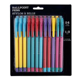 1.0 mm Black Ink Ball Point Pens