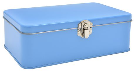 Large Blue Pencil Tin