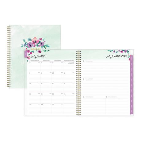 Lovely Bough Large Weekly/Monthly Pp Planner for 2018-19