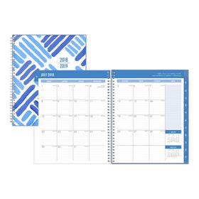 Crosshatch Large Weekly/Monthly Cyo Planner for 2018-19