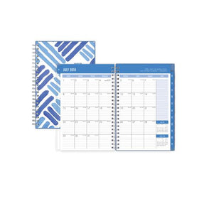 Crosshatch Medium Weekly/Monthly Cyo Planner for 2018-19