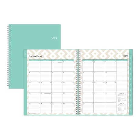 Assorted Medium Weekly/Monthly PP Planner for 2019