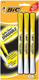 Brite Liner Yellow Chisel Tip Erasable Highlighters