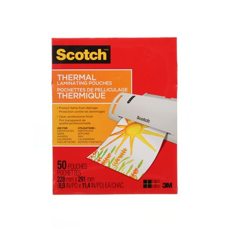 Scotch™ 3 mm Thermal Laminating Pouches