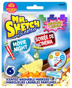 Movie Time Scented Washable Markers