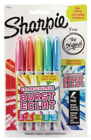 Color Burst Permanent Fine Point Assorted Markers