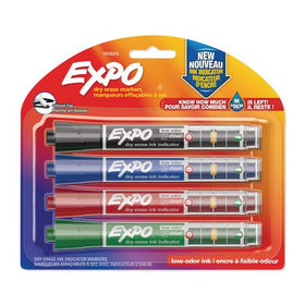 Dry Erase Assorted Markers with Ink Indicator