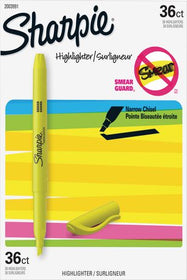 Sharpie Fluorescent Yellow Chisel Tip Pocket Highlighters